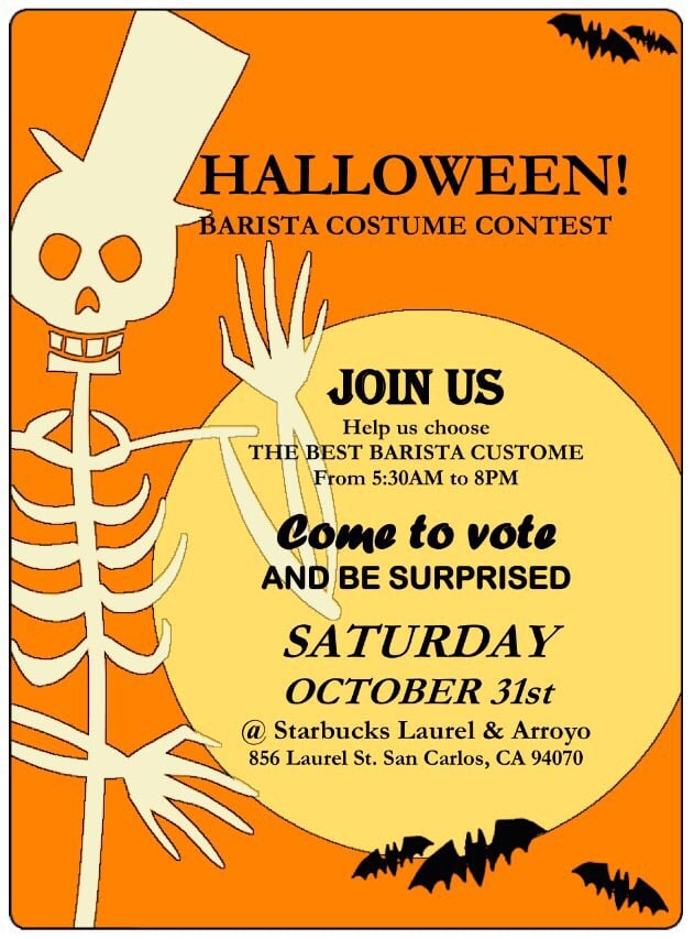 Halloween Vintage Costume Party Flyer Social Media Post Template