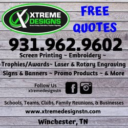 6020652e Xtreme Designs - Trophy Shops - 402 S College St, Winchester, TN - Phone  Number - Yelp