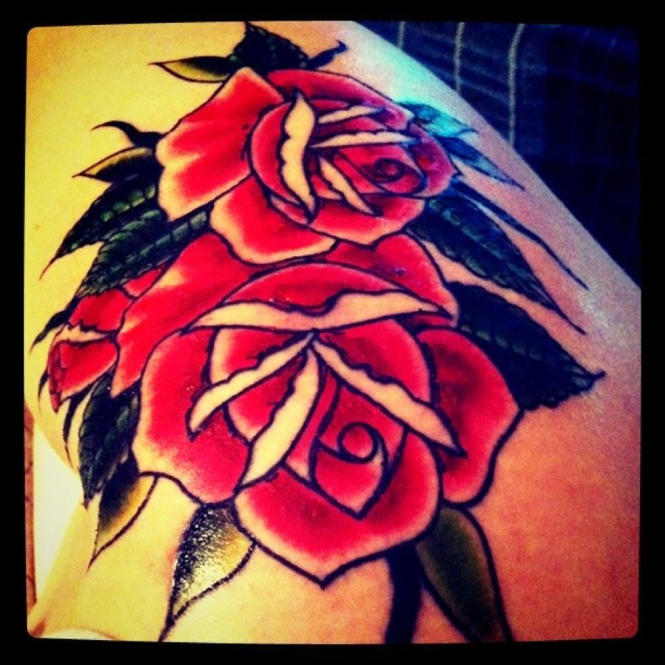 upper side thigh tattoo done by dan smith from high voltage tattoo june 2011 yelp. Black Bedroom Furniture Sets. Home Design Ideas
