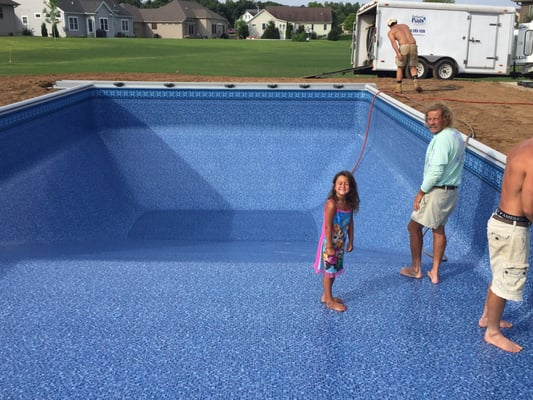 Photo Of Backyard Pools Elkhart In United States S Having Fun