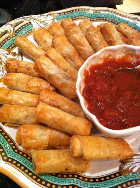 Moroccan chicken phyllo rolls yelp for Reto kitchens