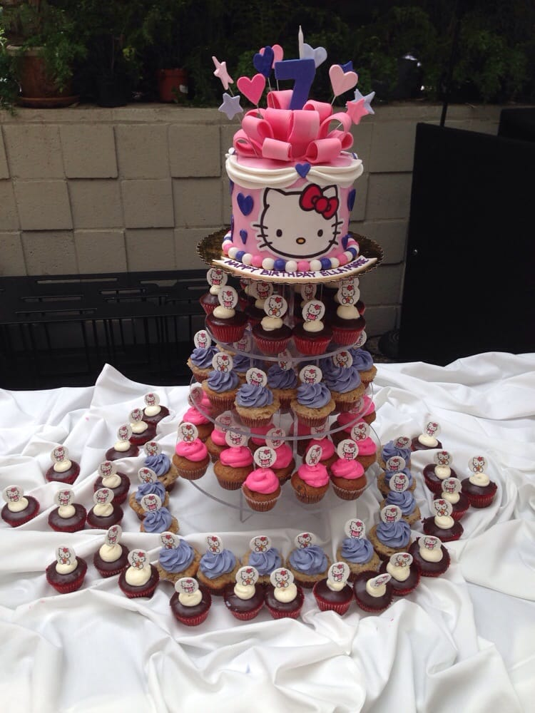 I Pictured Exactly The Same Hello Kitty Cake Design And Cupcakes