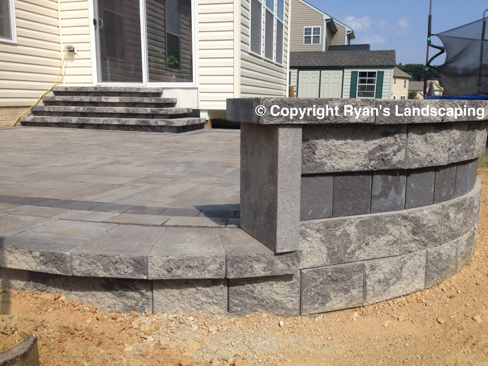 Photo of Ryan's Landscaping - Hanover, PA, United States. Elevated Nicolock  Paver Patio - Elevated Nicolock Paver Patio Hardscape In Hanover, Pa - Ryan's