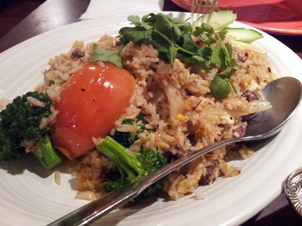 Thai fried rice yelp for Ayothaya thai cuisine puyallup wa