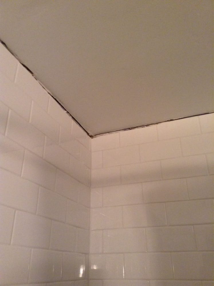 Huge Gap Between Tile And Ceiling In Bathroom Yelp