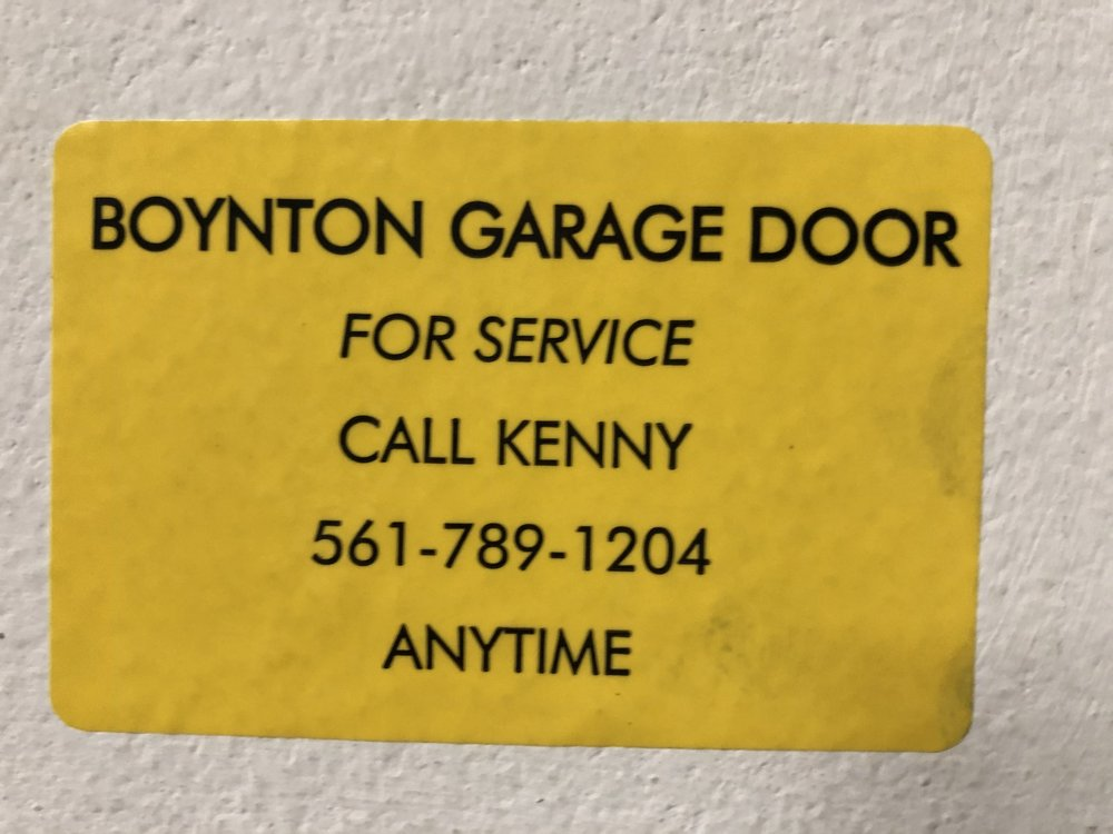 Boynton Garage Door: 126 Ocean Ct, Boynton Beach, FL