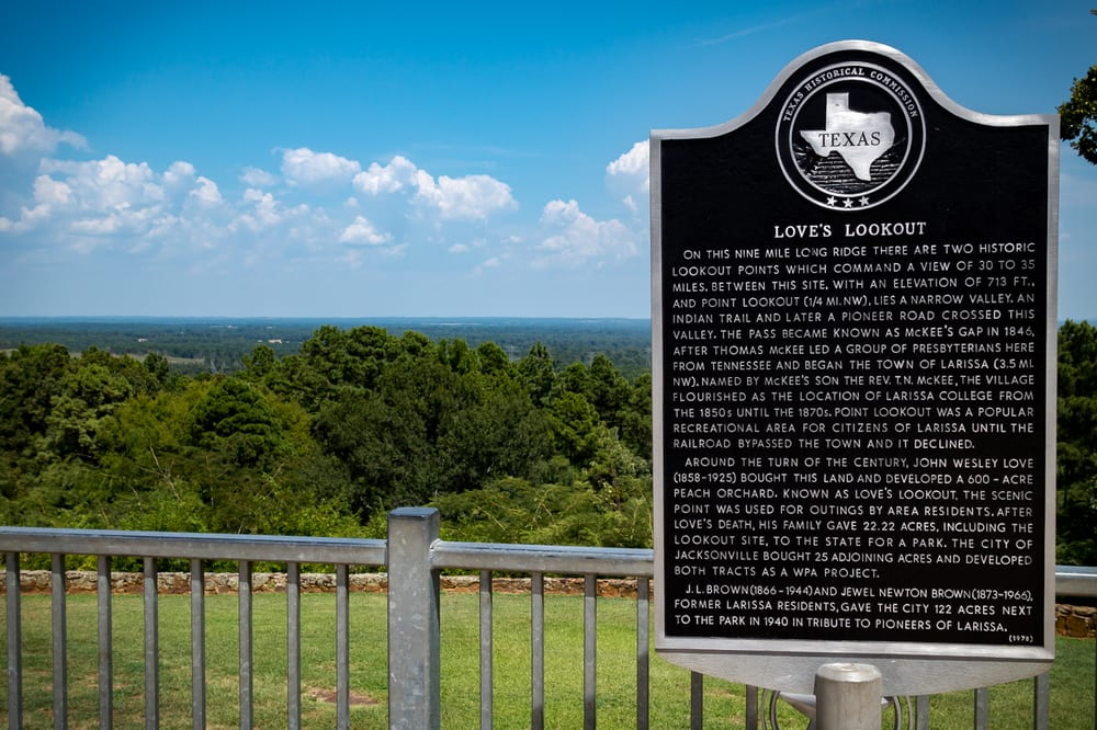 Love's Lookout Visitor Center: 43822 US Highway 69th N, Jacksonville, TX