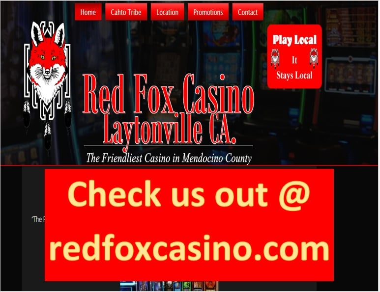 The Red Fox Casino: 200 Cahto Dr, Laytonville, CA
