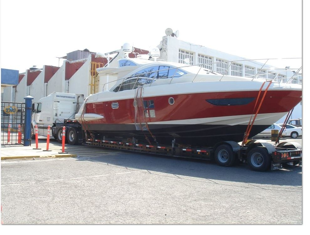 Azimut 46 moved over the road - Yelp