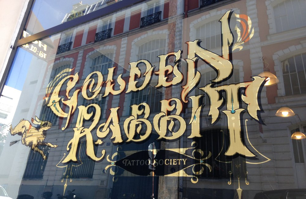 the golden rabbit tattoo 10 rue gambey oberkampf parmentier paris frankreich. Black Bedroom Furniture Sets. Home Design Ideas