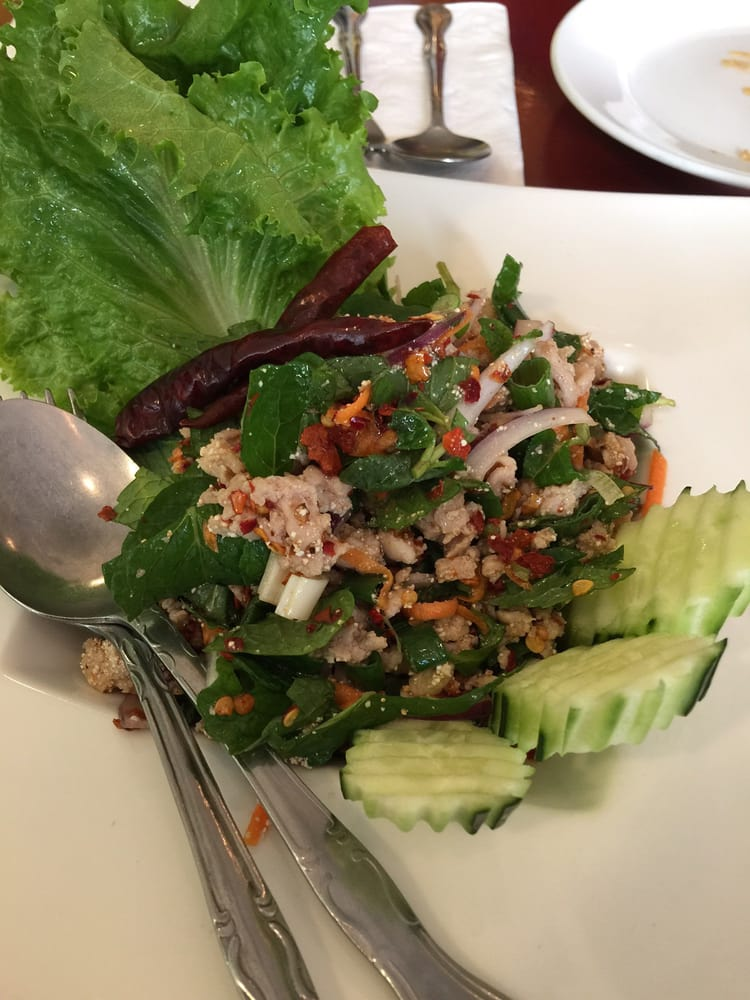 Minced chicken mint salad yelp for At siam thai cuisine