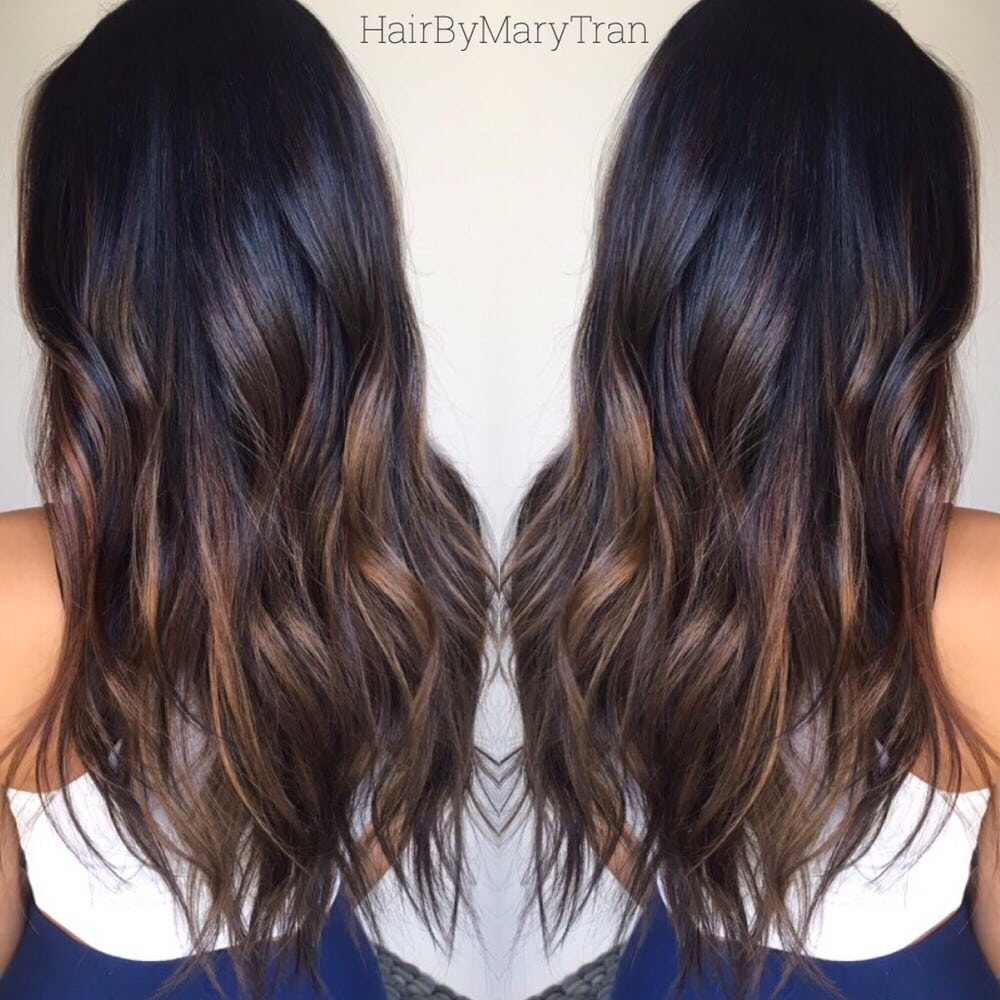 Chocolate Subtle Ombre And Blended Haircut On Asian Hair Yelp