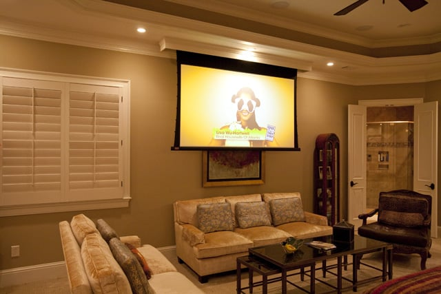 projector in bedroom. Photo of Atlanta Integrated Systems  GA United States Master Bedroom 92 Draper Projector Screen Yelp
