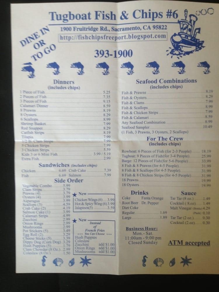 Menu yelp for J and j fish menu