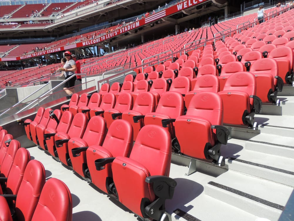 Comfy Soft Padded Seats In The Club Level My Friend Has 2