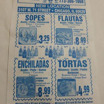 Taqueria Ochoas Mexican 3107 W 71st St Chicago Lawn Chicago