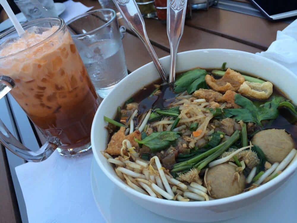 Thai Boat And Thai Tea Delicious Mmmmmmm Yelp