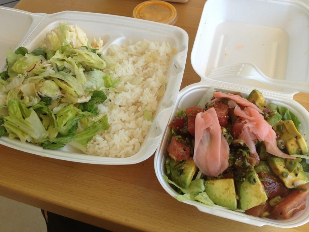 Tuna poke poke bowl- $11 ish, so yummy and fresh! Love the ...