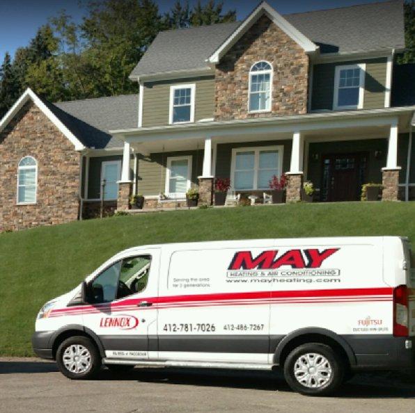 May Heating & Air Conditioning: 1002 Charles St, Glenshaw, PA
