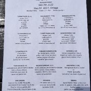 The Open TableOutdoor Eatery Mexican E Omega St Henrietta - Open table menu