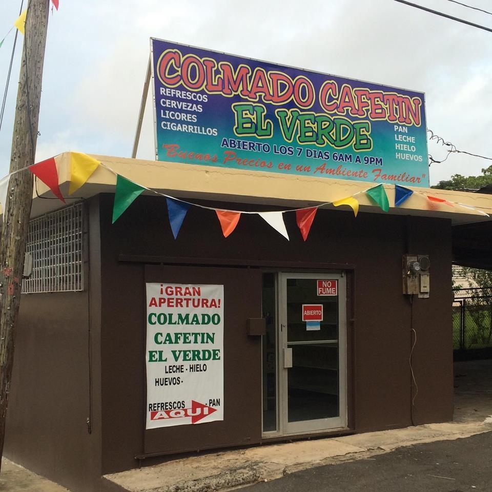 Colmado Cafetin El Verde: Carr. 186, Km 25.7, Jiménez, PR