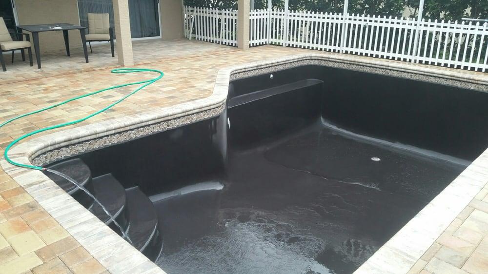 Onyx Pool Plaster : Diamond brite black onyx curatolo pool resurfacing new