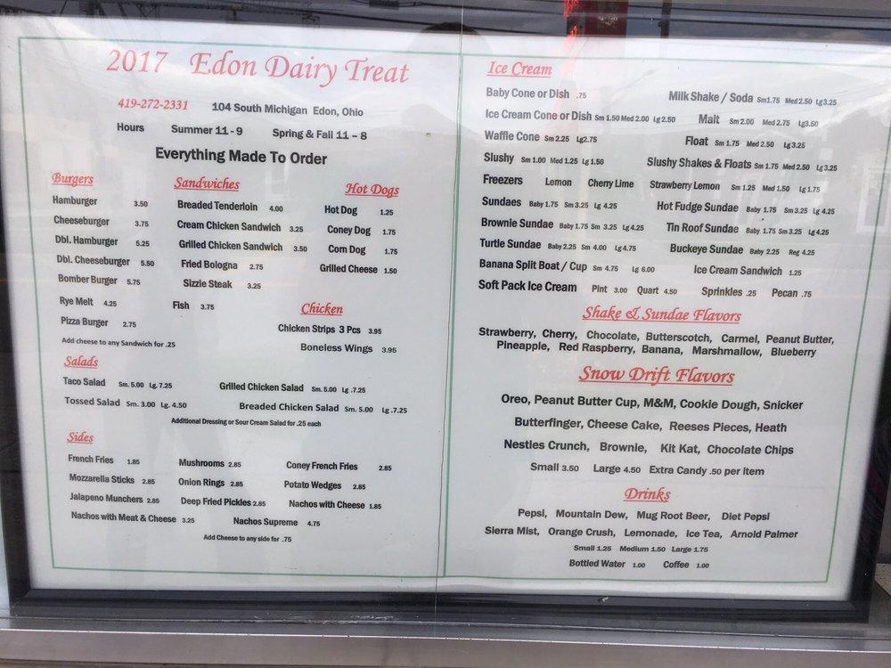 Edon Dairy Treat: 104 S Michigan St, Edon, OH
