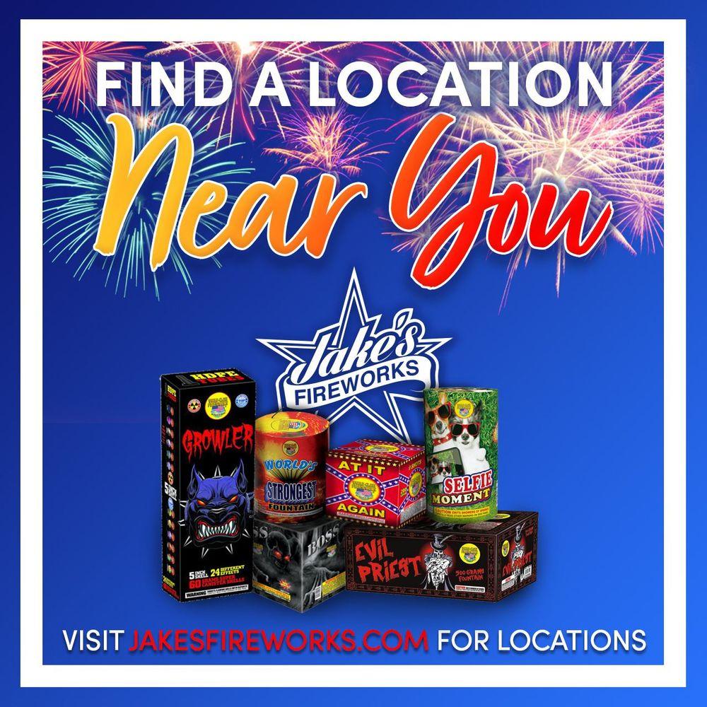 Jake's Fireworks: 3577 Club Dr, Lawrenceville, GA