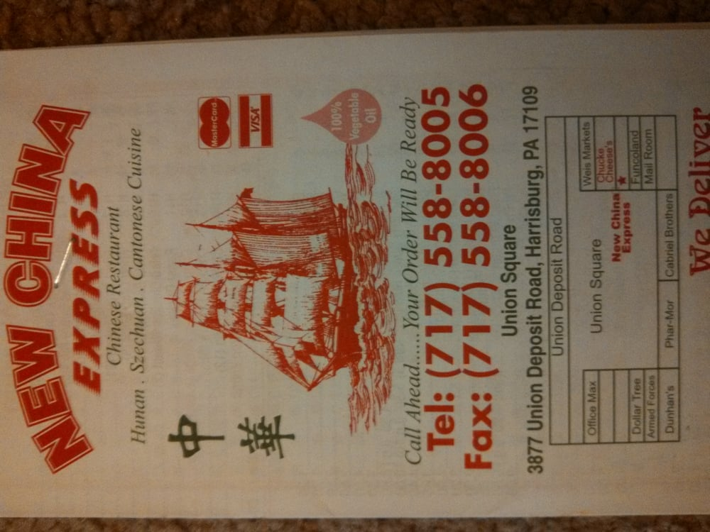 Chinese Restaurant Union Deposit Harrisburg Pa