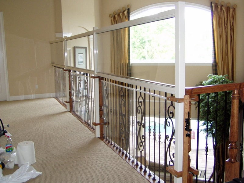 Safety Wall Added To Banister With Plexi Glass Above And
