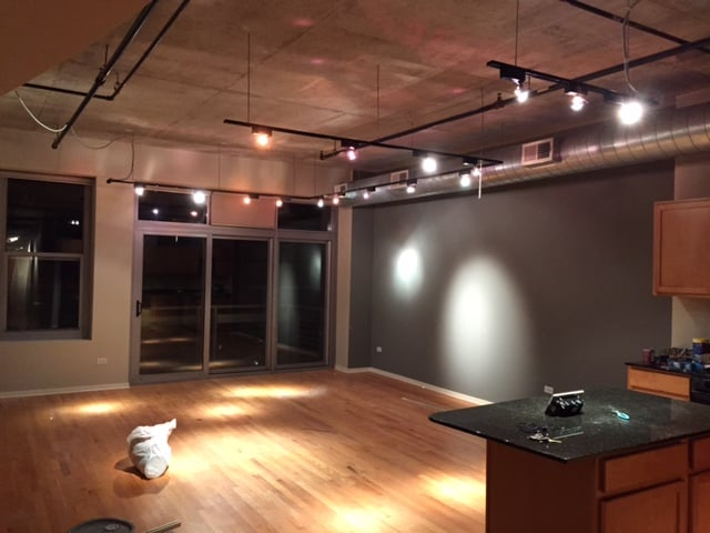 Photo of Frpbuilders - Chicago IL United States. Juno light system installed into & Juno light system installed into my concrete ceiling walls painted ...