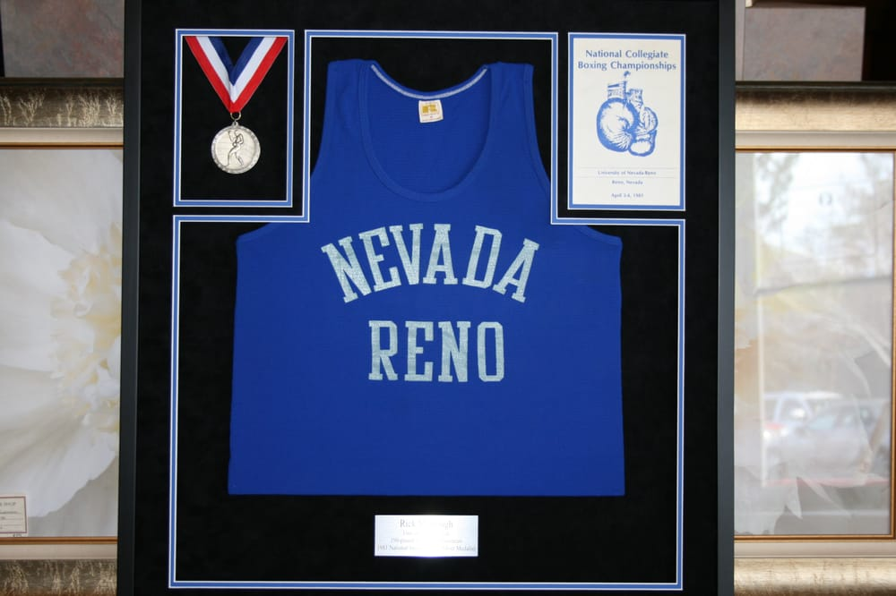 UNR boxing jersey. We frame all kinds of jerseys! - Yelp