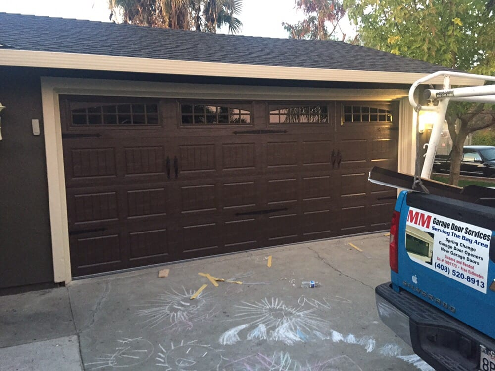 dark brown garage doorsOak summit dark brown bead board with windows  Yelp