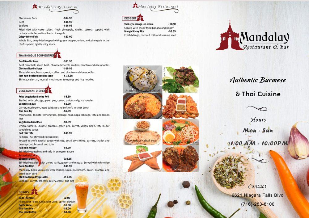 Mandalay Restaurant and Bar: 6621 Niagara Falls Blvd, Niagara Falls, NY