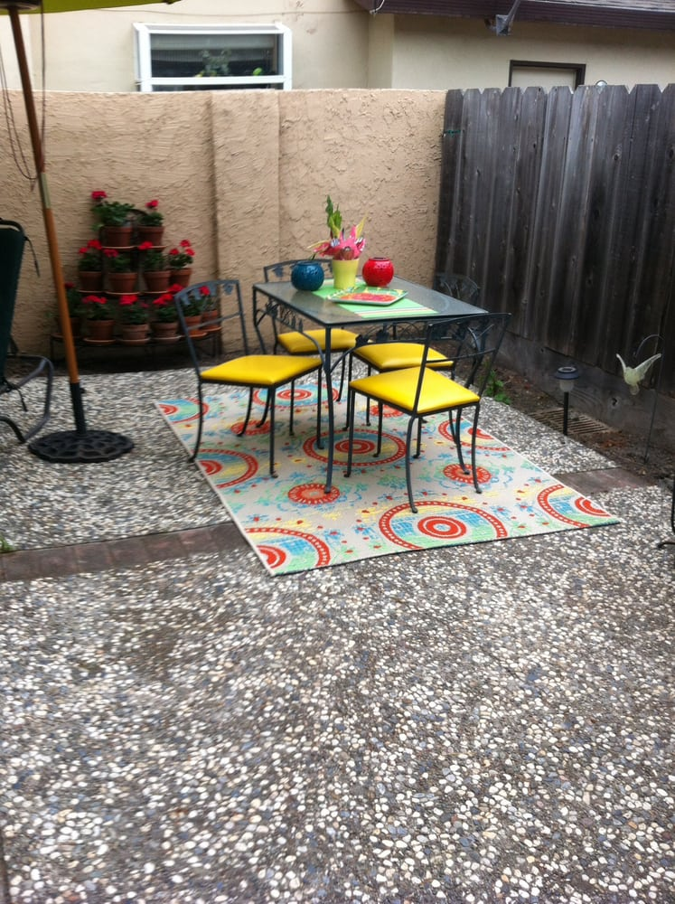Patio Chairs Recovered In Bright Yellow Really Looks