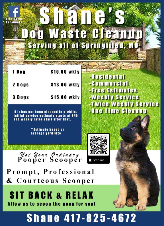 Shane's Dog Waste Cleanup Service: Springfield, MO