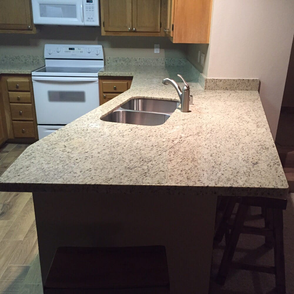 Kitchen Faucets For Granite Countertops: We Lowered The Kitchen Countertop Height, And Installed