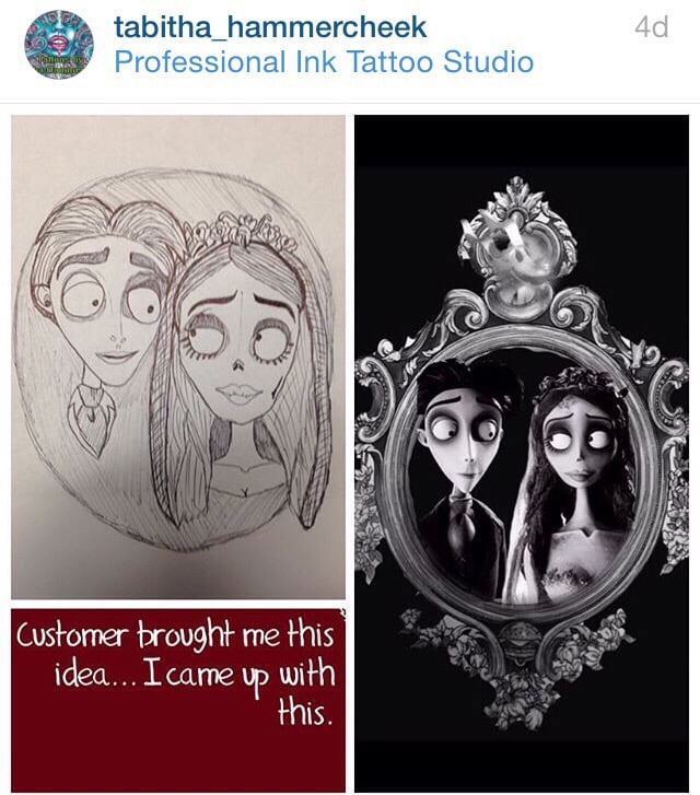 Corpse bride from Tim burton with zero from nightmare before ...