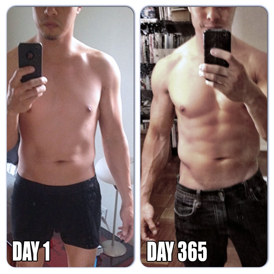 Crossfit before and after 1 month