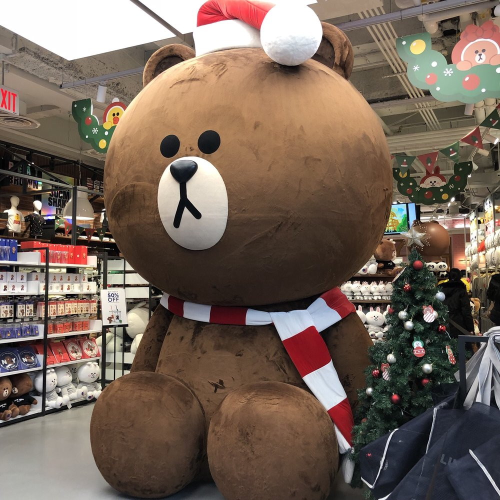 Giant Bear When You Enter. Almost As High As The Ceiling
