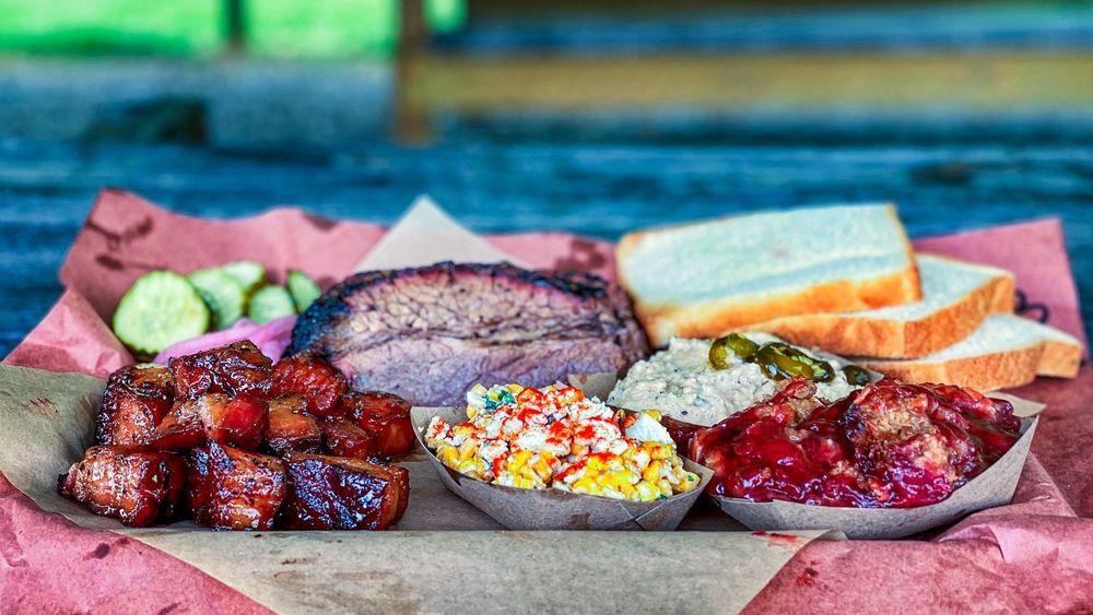 Jon G's Barbecue: 116 Glenn Falls St, Peachland, NC