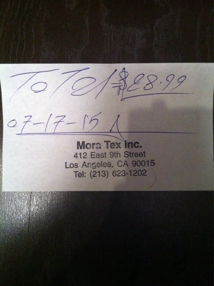 his shoddy receipt no itemization just a total price he seems