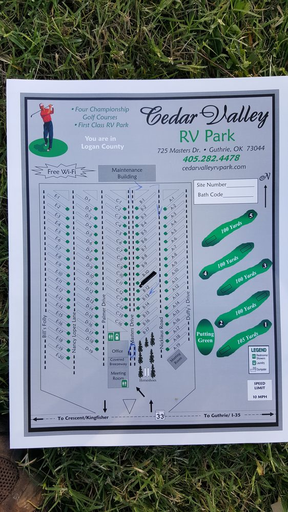 Cedar Valley Rv Park: 725 Masters Dr, Guthrie, OK
