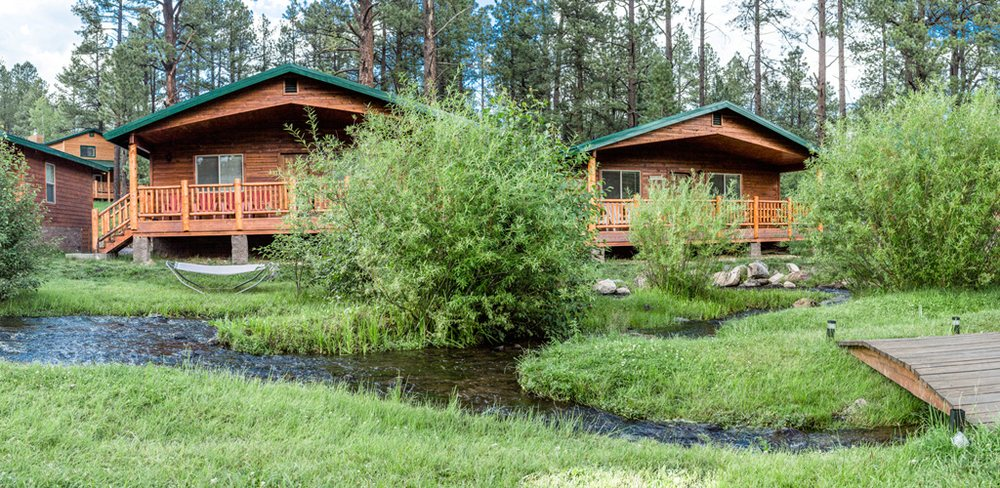 home retreat setter riverside grounds az red greer cabins page in lodging