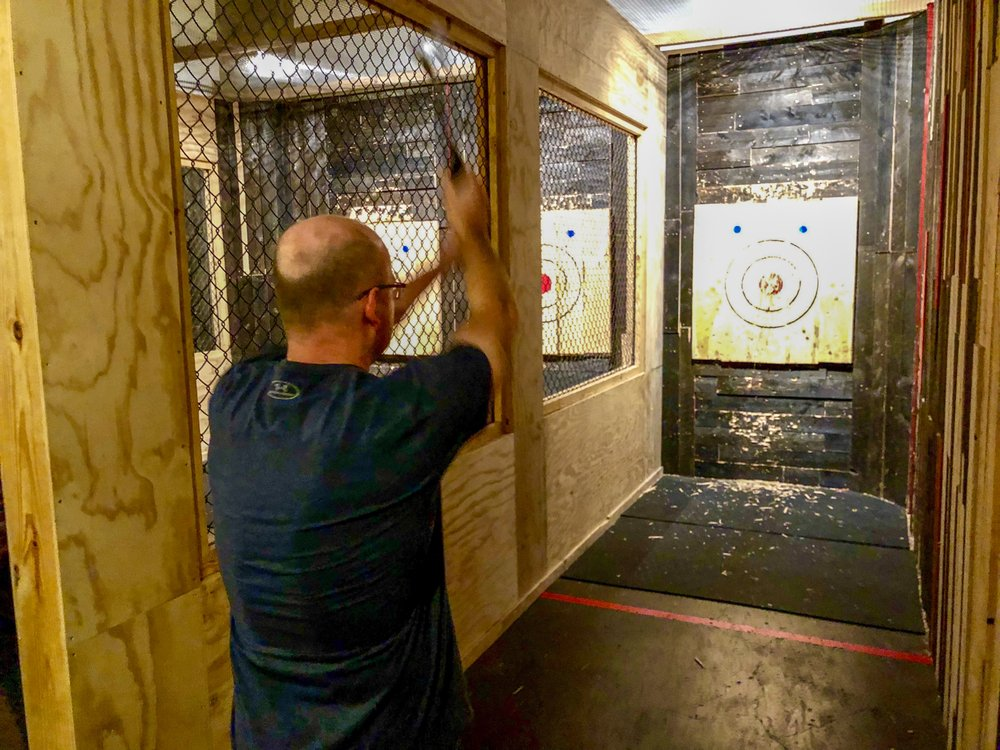 Pine & Iron Axe Throwing