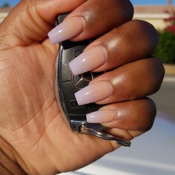 Pink and Lavender Ombre, Coffin shaped nail , Yelp