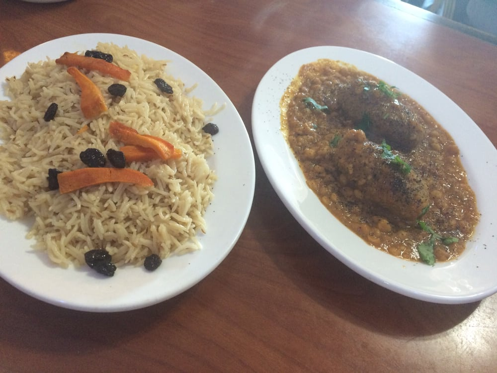 Chicken korma with chickpeas and side of rice was really for Afghan cuisine houston tx