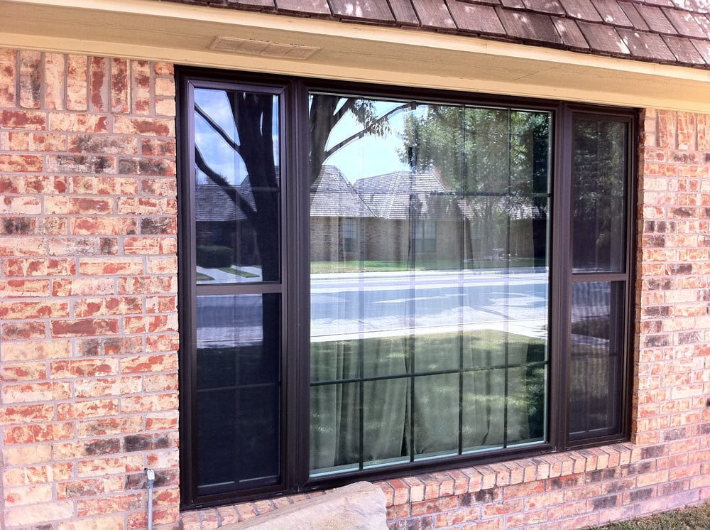 Bronze Vinyl Window With Colonial Grids Yelp