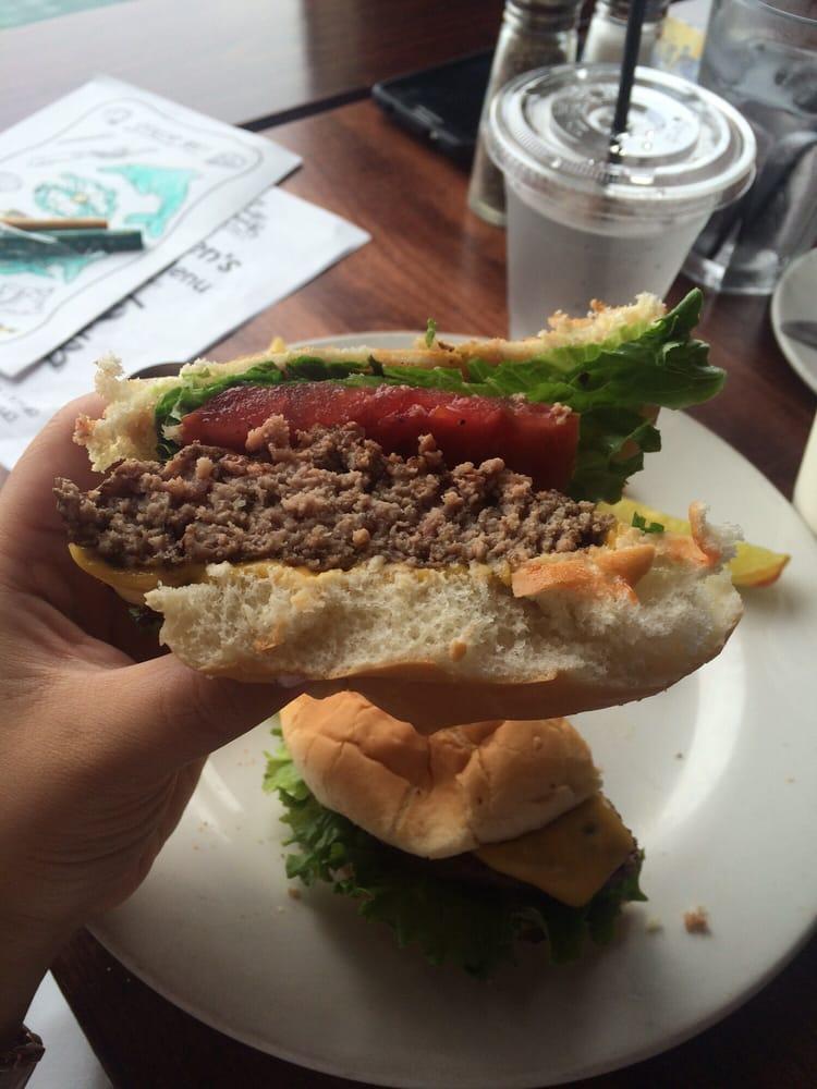 Half of a kids cheeseburger yelp for Fish hopper monterey