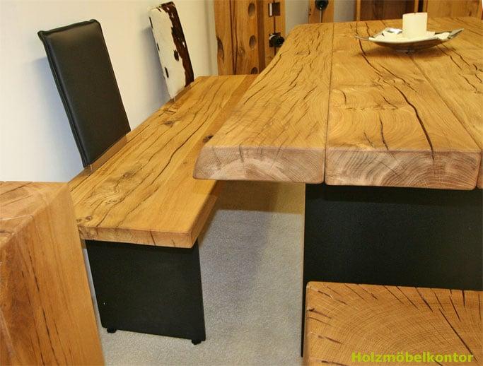 Holzmöbelkontor - Tisch Baumkante, Naturkante - Yelp